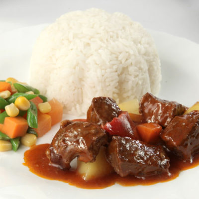 ₱180 Caldereta Rice Meal